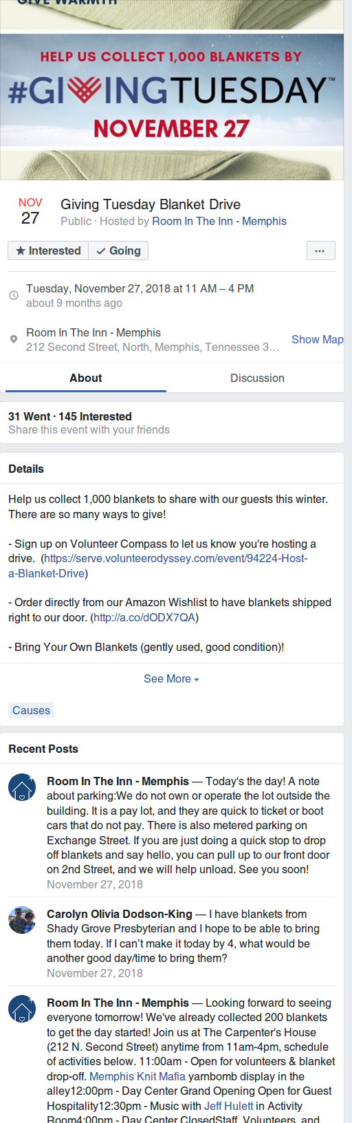 Alternate Facebook Fundraising for Giving Tuesday